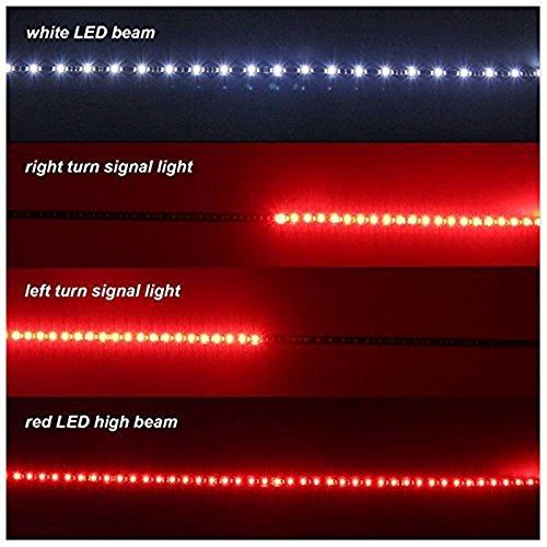 Kingshowstar 49 Auto Tailgate LED Light Bar Red White Reverse Stop Running Brake Turn Signal