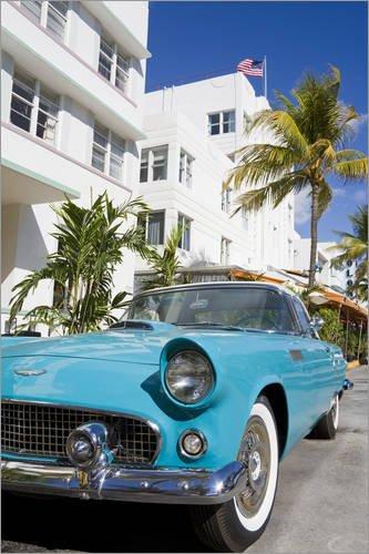 Posterlounge Holzbild 80 X 120 Cm Avalon Hotel And Classic Car On