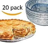 Gypsy's Cart 20 Piece Premium Aluminum Foil Pie Pans, Disposable Tin Plates for Pies Tart Quiche