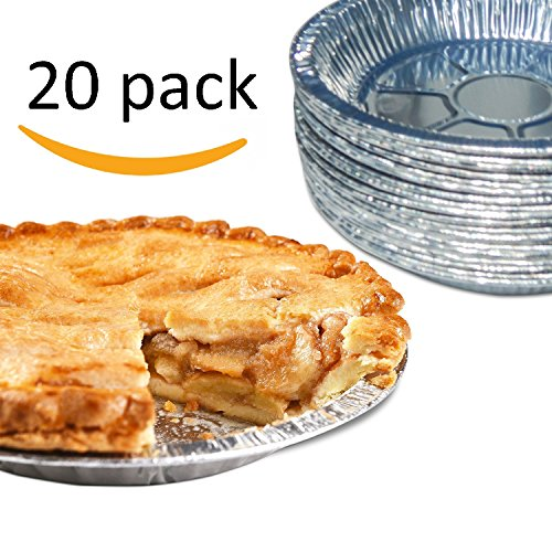 [Gypsy's Cart 20 Piece Premium Aluminum Foil Pie Pans, Disposable Tin Plates for Pies Tart Quiche] (Tin Foil Robot Costume)