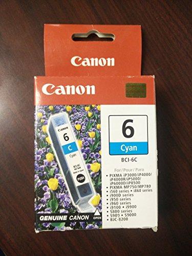 6c Canon Cyan Ink Cartridge - 5
