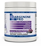 L-arginine Pro, #1 NOW L-arginine Supplement - 5,500mg of L-arginine PLUS 1,100mg L-Citrulline + Vitamins & Minerals for Cardio Health, Blood Pressure, Cholesterol, Energy (Berry, 1 Jar)