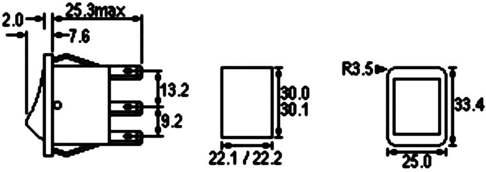 AERZETIX Verde C10692 Interruptor conmutador basculantes de boton DPST ON-OFF 16A//250V 2 posiciones