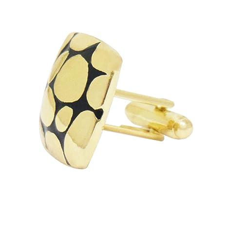 Westeng 1 pcs Gemelos de Acero inoxidable Botones para Accesorios de la Camisa,Color Oro