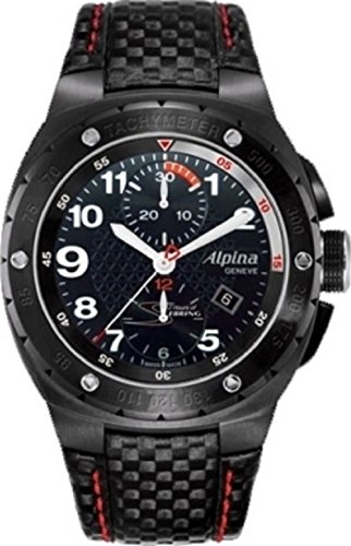 Alpina Racing 12 Hours Of Sebring Automatic Chronograph Date Limited Edition Black Carbon Fiber Strap Watch AL-725LBR5FBAR6