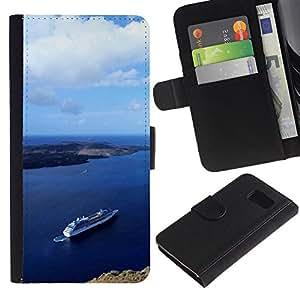 iBinBang / Flip Funda de Cuero Case Cover - Naturaleza Hermosa Forrest Verde 92 - Samsung Galaxy S6 SM-G920