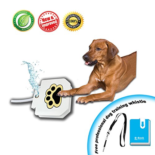 KninePal Upgraded 2018 Pet Dog Step On Water Fountain | Sprinkler Toy - Easy Paw Activated - Fresh, Clean, and Cool Drinking Water for Doggie - 2 Free Bonus - Steps Garden Copper Fountain