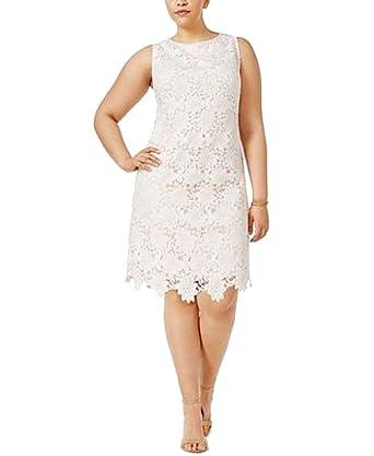 Plus Size Lace Shift Dress