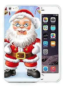 Custom-ized iPhone 6 Plus Case,Santa Claus White iPhone 6 Plus 5.5 TPU Case 33