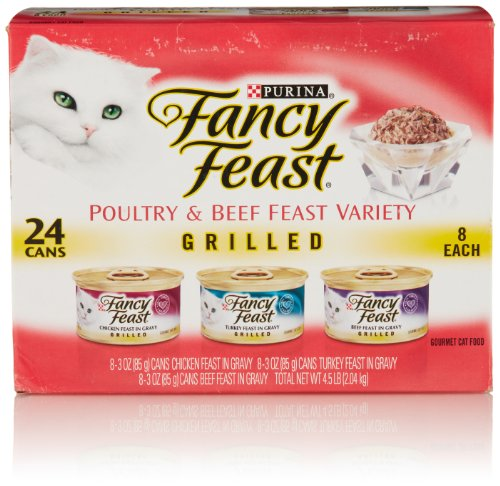 Fancy Feast Wet Cat Food, Grilled, Poultry & Beef Variety Pa