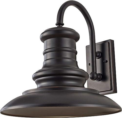 Feiss OL9004RSZ-LED Redding Station Outdoor LED Wall Sconce Cast Aluminum, Restoration Bronze 1-Light 15 W x 16 H 14 Watts