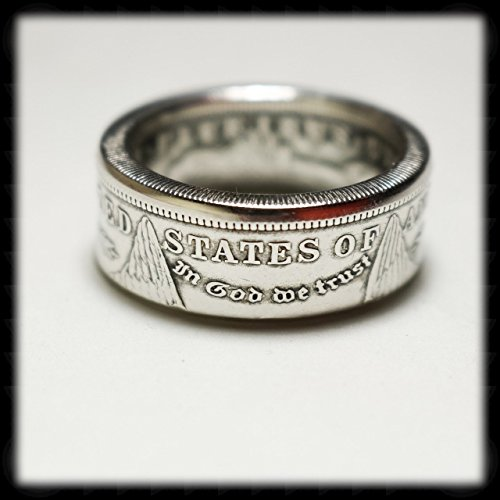 Handmade US Morgan Silver Dollar Coin Ring by The Twisted Coin
