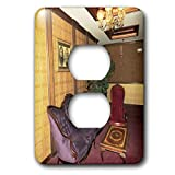 3dRose Jos Fauxtographee- Mizpah Hotel Lounge - One of the many lounges in the Mizpah Hotel in Nevada - Light Switch Covers - 2 plug outlet cover (lsp_291362_6)