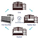 Graco Solano 4-in-1 Convertible Crib, White, Easily Converts to Toddler Bed Day Bed or Full Bed