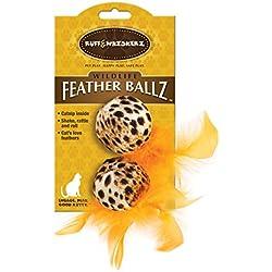 Ruff & Whiskerz Feather Ballz Catnip Cat Toy