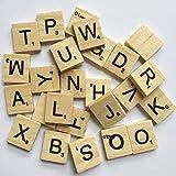 Sunnyglade 500PCS Wood Letter Tiles/ Wooden