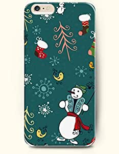 OOFIT New Apple iPhone 6 ( 4.7 Inches) Hard Case Cover - Snowman with Green Hat
