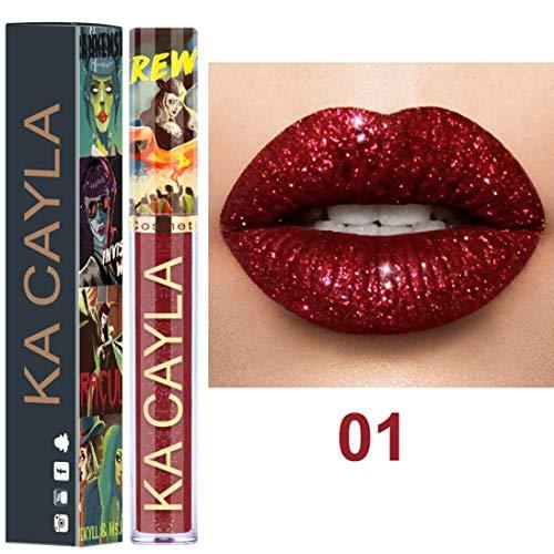 Ourhomer Waterproof Long Lasting Sexy 8 Colors Nude Metallic Matte Velvet Glossy Lip-Gloss Lipstick Lip Cream ()