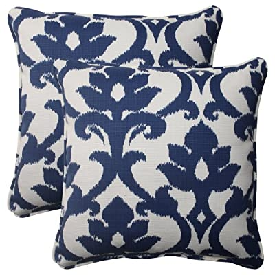 Pillow Perfect Outdoor Bosco Corded Throw Pillow, 18.5-Inch, Navy, Set of 2 - Includes two (2) outdoor pillows, resists weather and fading in sunlight; Suitable for indoor and outdoor use Plush Fill - 100-percent polyester fiber filling Edges of outdoor pillows are trimmed with matching fabric and cord to sit perfectly on your outdoor patio furniture - living-room-soft-furnishings, living-room, decorative-pillows - 51r3hvB07bL. SS400  -