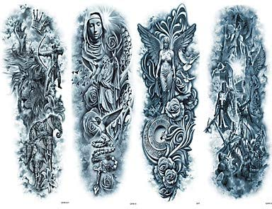 4 piezas tatuajes temporales cuerpo desechable ecológico Brachium ...