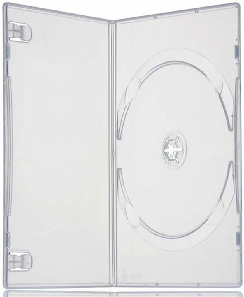 Four Square Media 5 x cajas individuales para DVD lomo de 7 mm - 5 unidades: Amazon.es: Informática