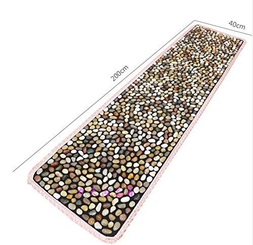 WE&ZHE 2M Natural Pebbles Stone Foot Massage Pad Foot Massage Health Care Equipment Foot Gravel Blanket by WE&ZHE