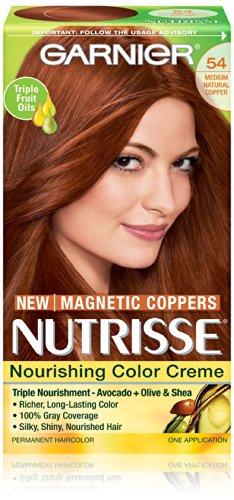 Garnier Nutrisse Nourrissant Cheveux couleur crème, 54 Cuivre moyen naturel