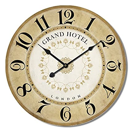 Alices Collection - Grande Reloj de Pared – Vintage - Madera MDF, Dia 60 cm