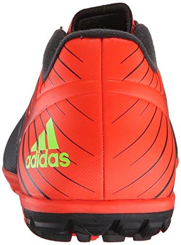 Adidas Prestaties Mens Messi 15,3 Voetbalschoen Zwart / Shock Groen / Zonne-rood