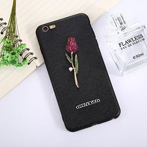 Phone Taschen & Schalen für iPhone 6 Plus und 6s Plus 3D Rose Muster Diamant TPU Schutzhülle ( Size : Ip6p8547b )