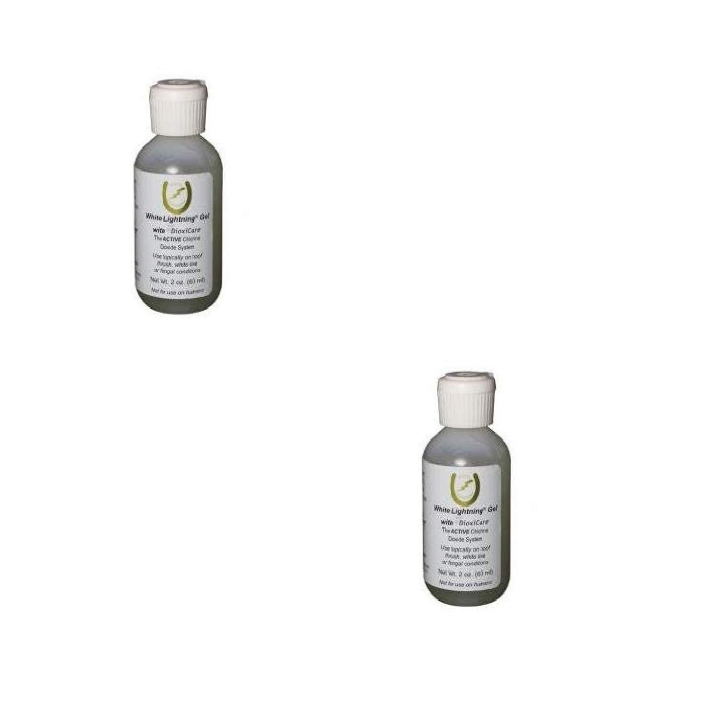 Grand Circuit 2 Oz White Lightning Gel with Dioxicare Use Topically on Hoof Thrush, White Line, or Fungal Conditions (2 Pck)