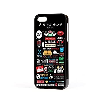 Friends televisión Sitcom Citas Divertidas carcasa iPhone apto para Apple iPhone 4 , 4s , 5 , 5s , 5c , 6 , 6 plus - Negro, Para Apple iPhone 5/5s