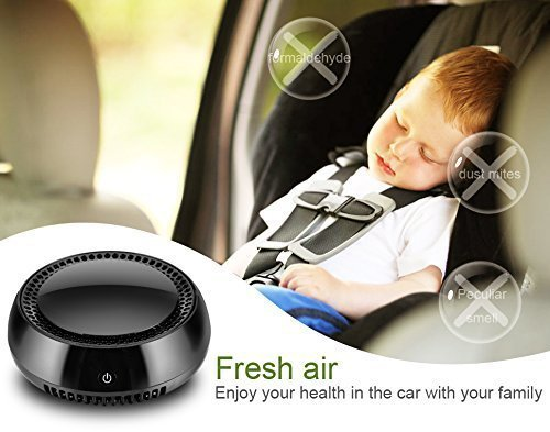 Portable Car Air Purifier,Auto True HEPA Filter Mini Travel USB Air Cleaner Air Freshener Cigarette Smoke,Odor Smell,Bacteria Remover for Small Bedroom,Pets Room,Refrigerator