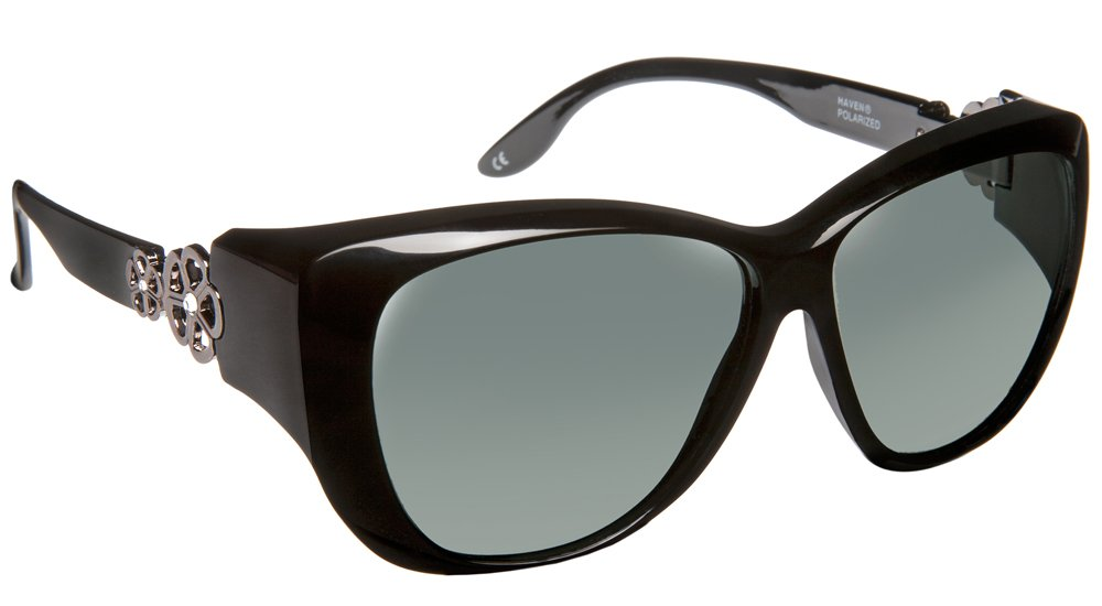 Haven Fitover Sunglasses Manhattan in Black & Polarized Grey Lens