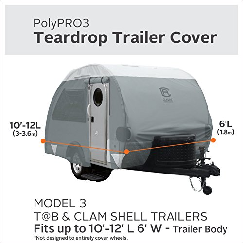Classic-Accessories-80-298-163101-RT-PolyPro-III-Teardrop-Camping-Trailer-Cover-For-Tab-Clam-Shell-Trailers