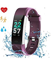 Airpro Fitness Tracker Color Screen Smart Watch Activity Tracking Waterproof IP68 Heart Rate Sleep Monitor GPS Pedometer Step Calorie Counter Remind Sports Bracelet for Kids Women Men