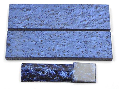 Pair Knives - Arctic Blue Kirinite Knife Handles Scales - 5