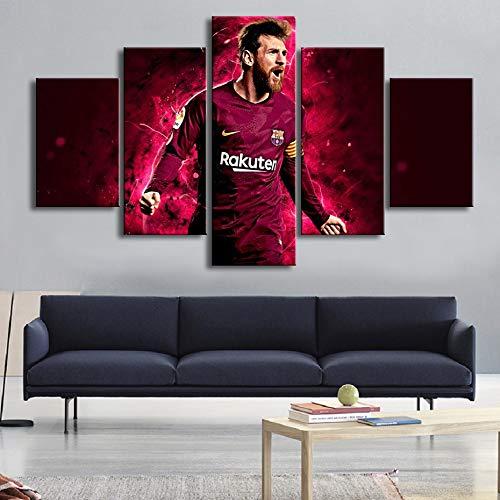 Fu/ßball Stars Barcelona Messi 30x80cm kein Rahmen 30x60cm 2pcs YKBSY Gedruckte Leinwand Poster Wandbild 2pcs 30x40cm