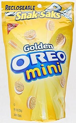 Nabisco Golden Oreo Mini Sandwich Cookies 3 Bags (Bite Size Oreos)