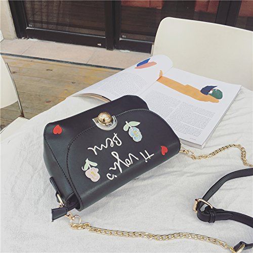 Shoulder Zazero Small Bags White Fashion All Chain Harajuku Embroidered Game Of Strap White New nxn6T