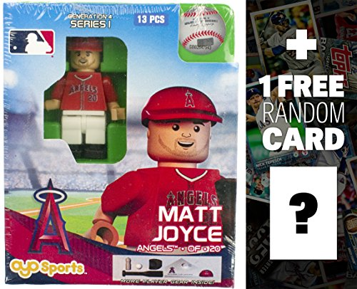 MLB Matt Joyce - LA Angels of Anaheim x OYO Sportstoys Minifigure G4 Series 1 + 1 Free Official Trading Card Bundle [20747] ()