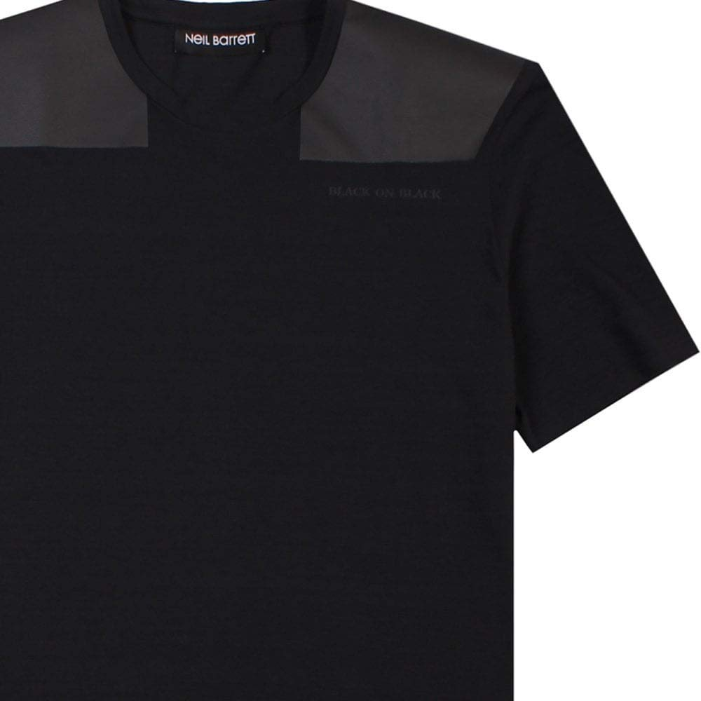 Neil Barrett Piel Parche Camiseta Negra: Amazon.es: Ropa y accesorios