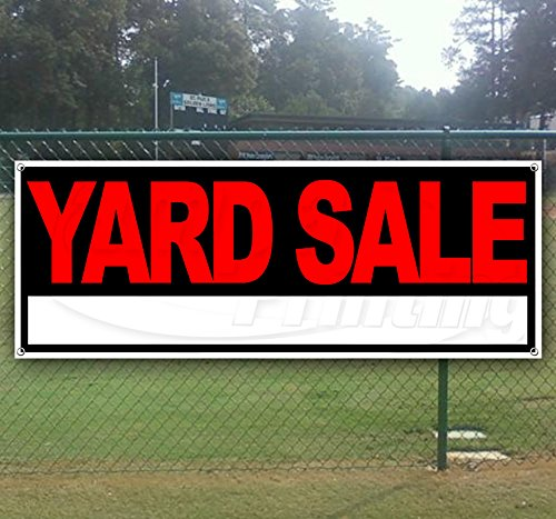 (Yard Sale 13 oz Heavy Duty Vinyl Banner Sign with Metal Grommets, New, Store, Advertising, Flag, (Many Sizes Available))