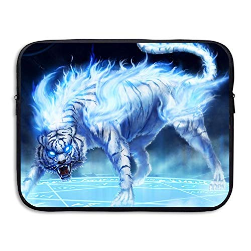 Laptop Sleeve Bag Tiger Fire with Rage Eyes Briefcase Sleeve Bags Cover Notebook Case Waterproof Computer Portable Bagsa