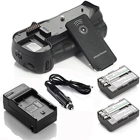 DS mb-d10バッテリーグリップ+ 2x EN - el3e電池+充電器for Nikon d300d300s d700