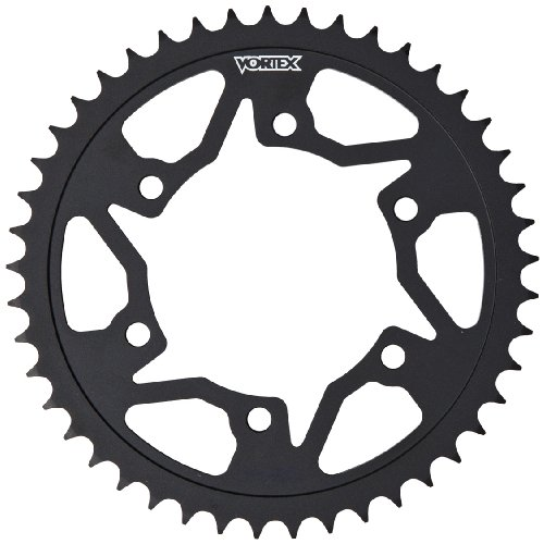 Vortex 251AS-42 Black 42-Tooth 520-Pitch Steel Rear Sprocket - Chrome Steel Sprocket