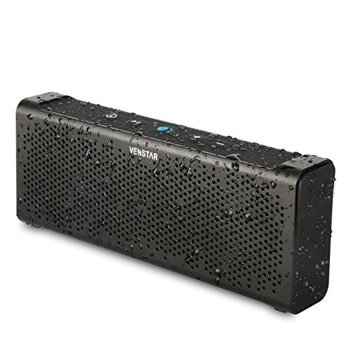 Wireless Speaker, Venstar Portable Speaker Bluetooth Speaker Bluetooth 4.0 Aluminium Built-in Mic 2*5w Voice Prompt Shockproof High-def Sound Compatible with All Bluetooth Devices - Metal Black