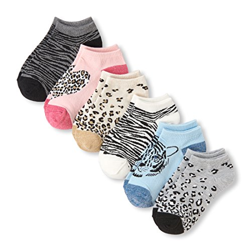 - The Children's Place Big Girls' 6 Pack Ankle Sock, Multi CLR, S 11-13