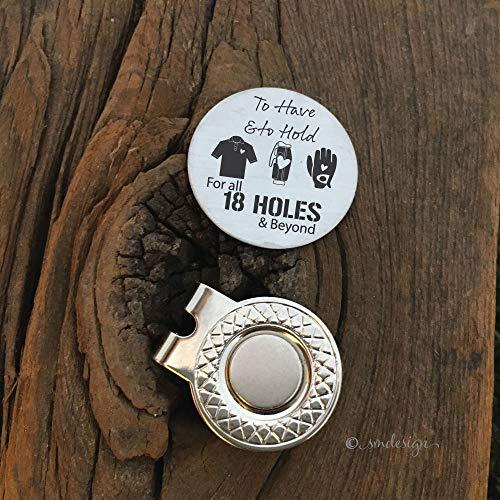 18 Holes Golf Ball Marker- Gift For Him Golf Disc For Papa Golf Ball Marker Engraved Gift Golf Ball Marker Husband Gift For Boyfriend Anniversary Gift