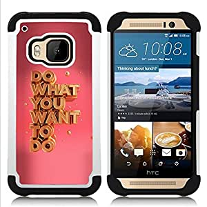 Hypernova Híbrido Heavy Duty armadura cubierta silicona prueba golpes Funda caso resistente Para HTC One M9 /M9s / One Hima [What You Want Oro Rosa evocativi]